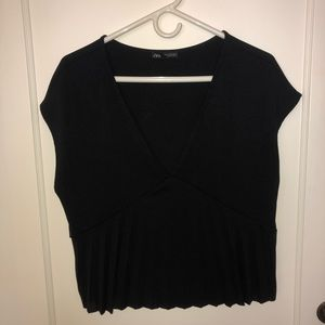 Zara V-Neck Textured Top